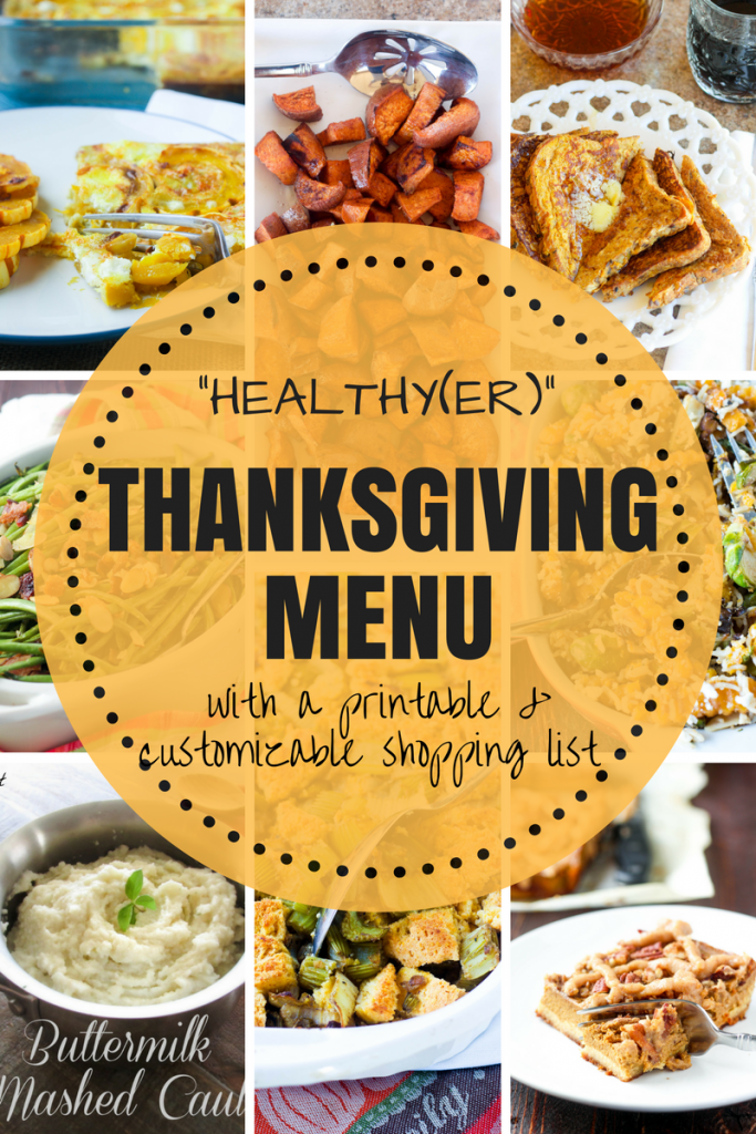 Complete Healthy Thanksgiving Menu
