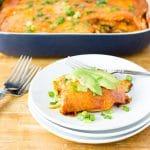 low carb turkey enchilada casserole