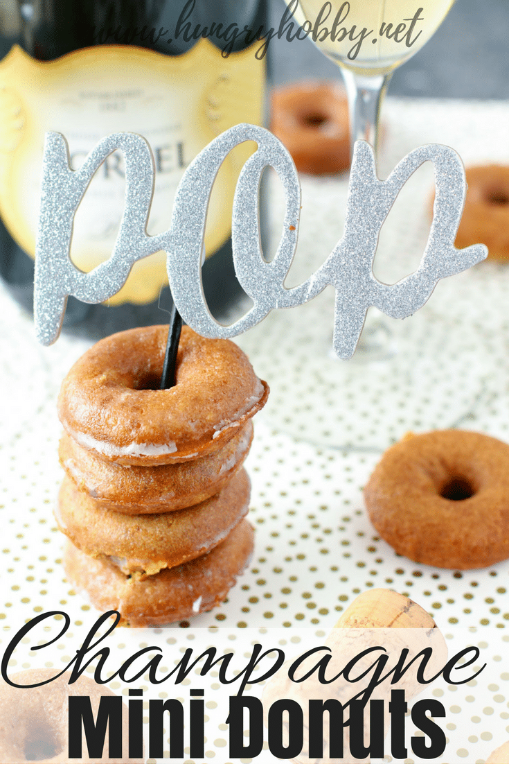Champagne Mini Donuts are the perfect boozy paleo-friendly treat for any celebration!  #glutenfree #healthy #donuts #paleo