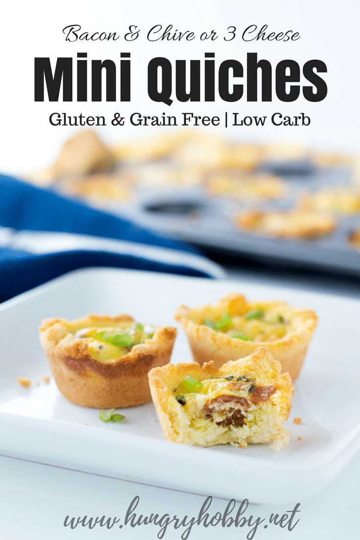 bacon and chive gluten free mini quiches