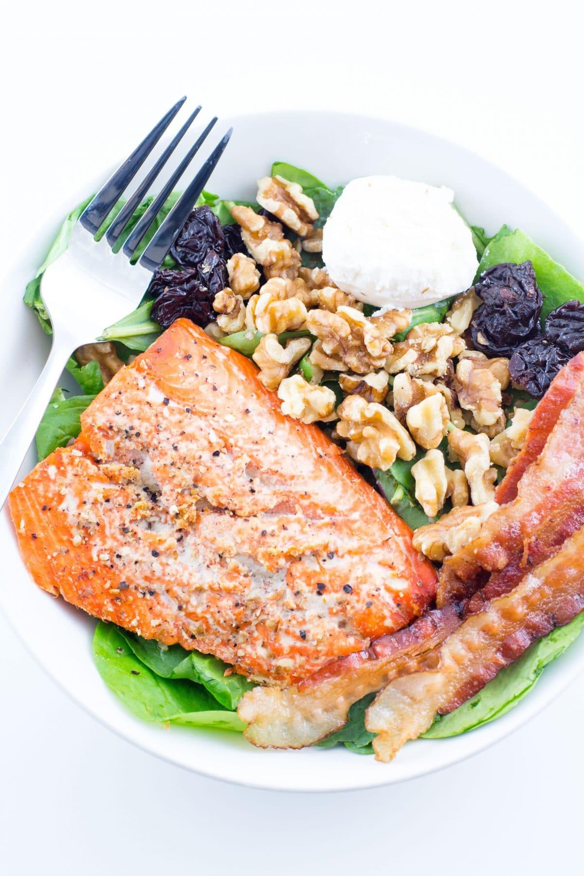 salmon-bacon-salad