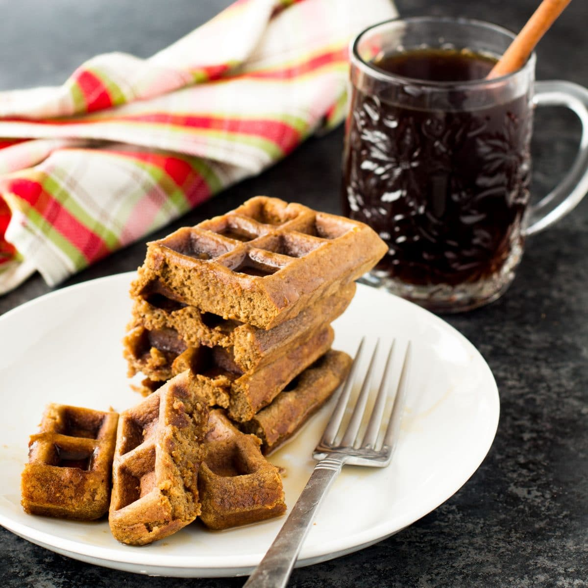 Gingerbread Protein Waffles