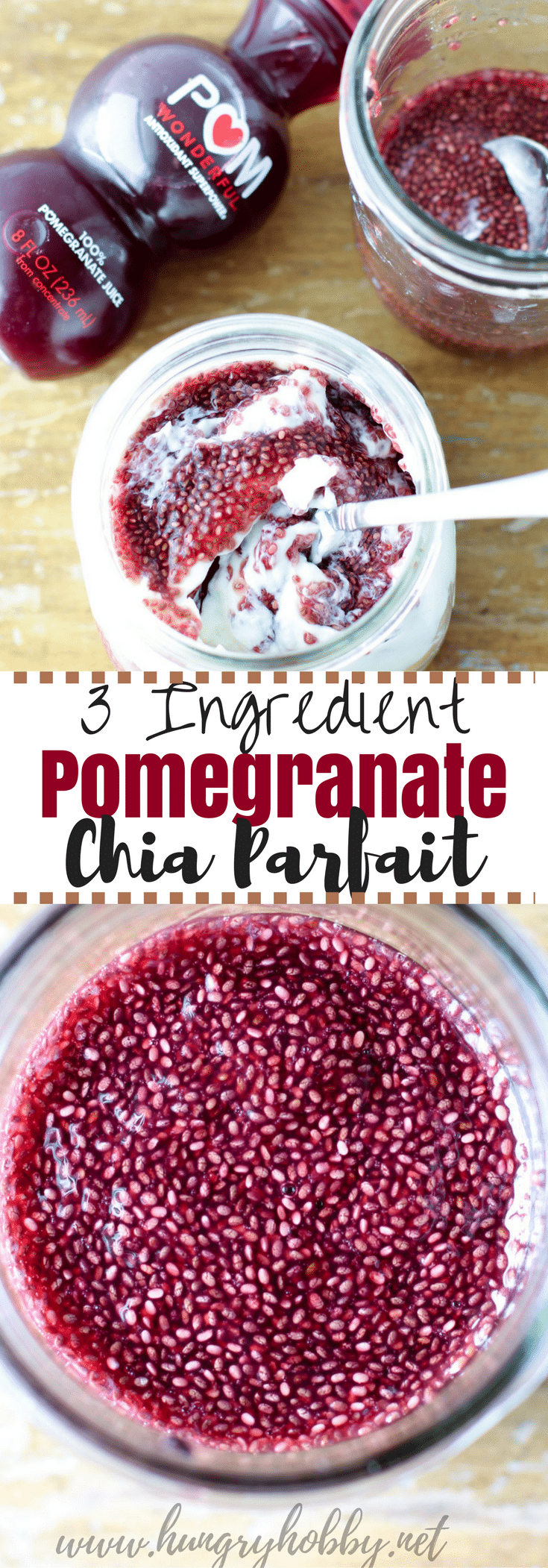 Pomegranate Chia Parfait (3 Ingredients) is an easy postworkout breakfast or snack full of the right nutrients to help you recover! #sponsored #crazyhealthy @pomwonderful #reciperedux