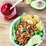 Easy Paleo Taco Salad with Plantain Chips