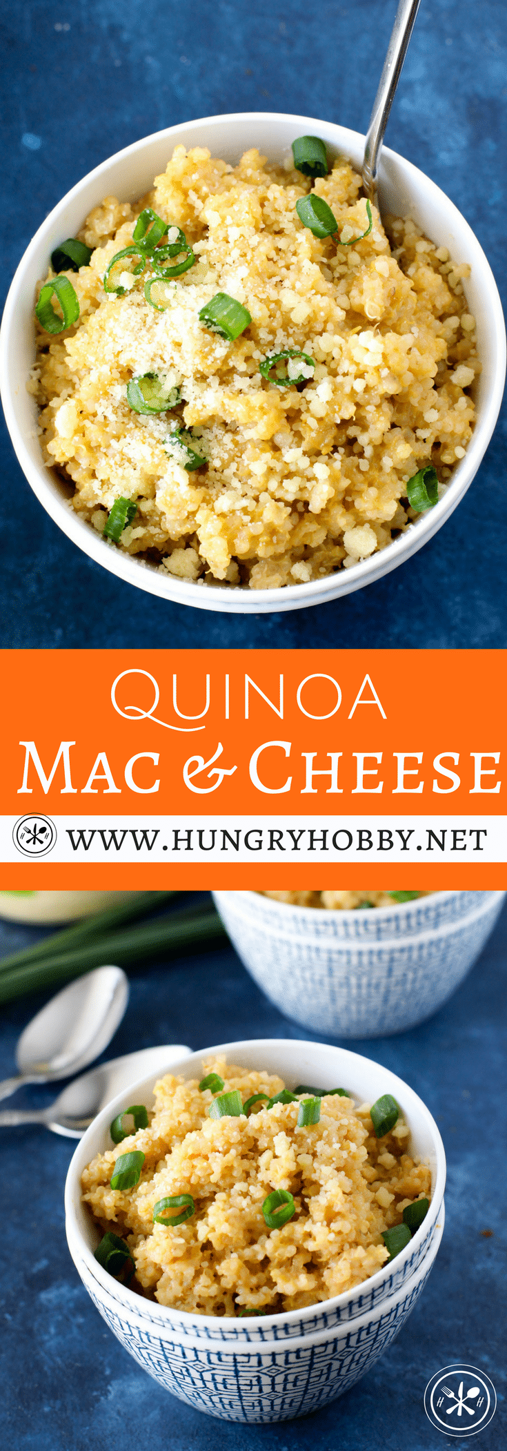 Don't be fooled, just because high protein high fiber quinoa is swapped for traditional pasta, this is your creamy incredibly cheesy mac and cheese of your childhood dreams.  You are sure to swoon with delight at every bite! #glutenfree #hungryhobby #vegetarian