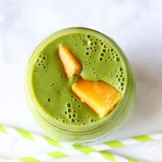 Peach Mango Smoothie - Gluten Free & High Protein
