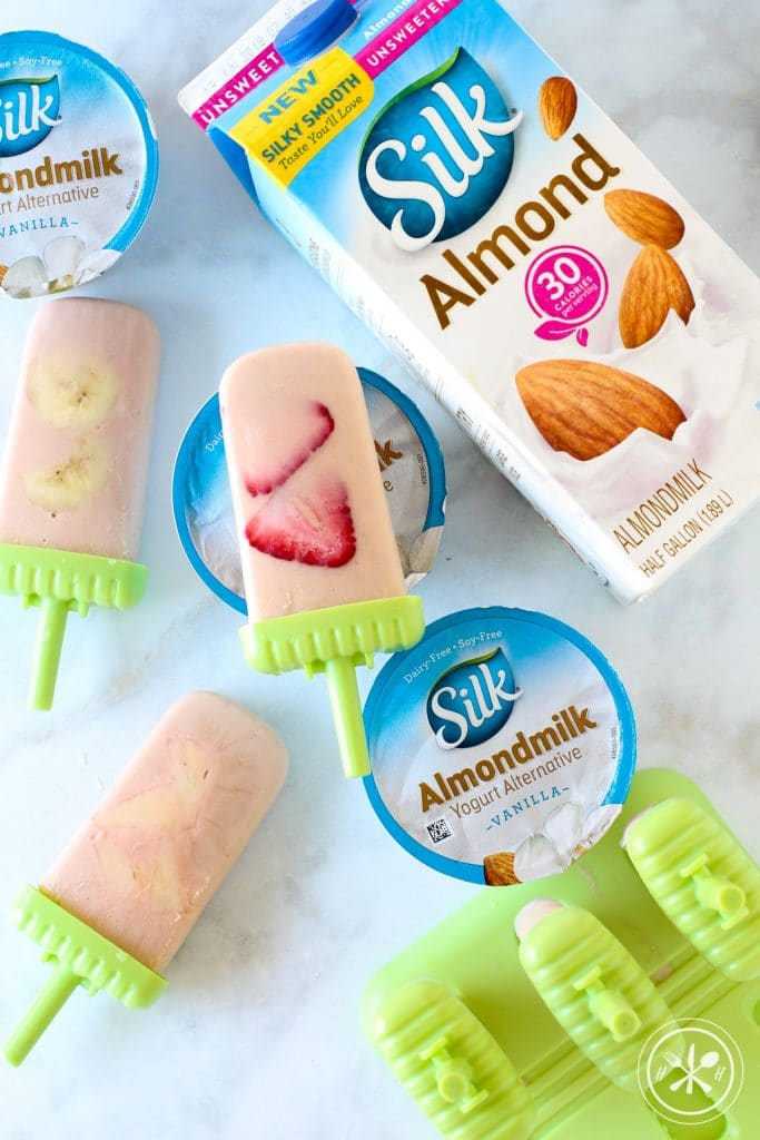 Vegan Tropical Yogurt Popsicles