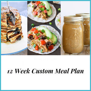 12 week custom meal plan