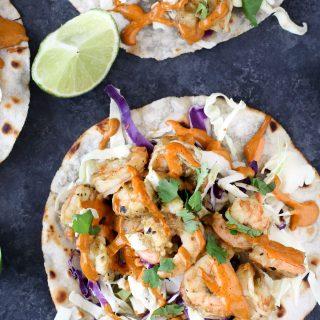 Chipotle Shrimp Tacos - Paleo Friendly