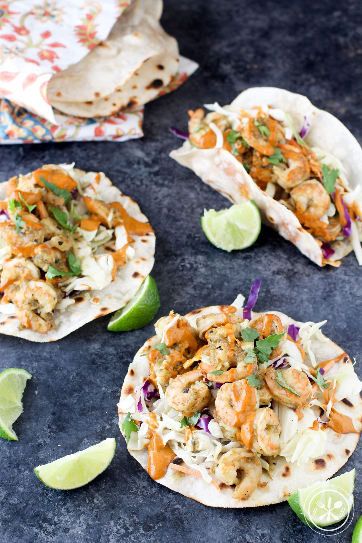 Easy chipotle shrimp tacos - paleo, gluten free, dairy free