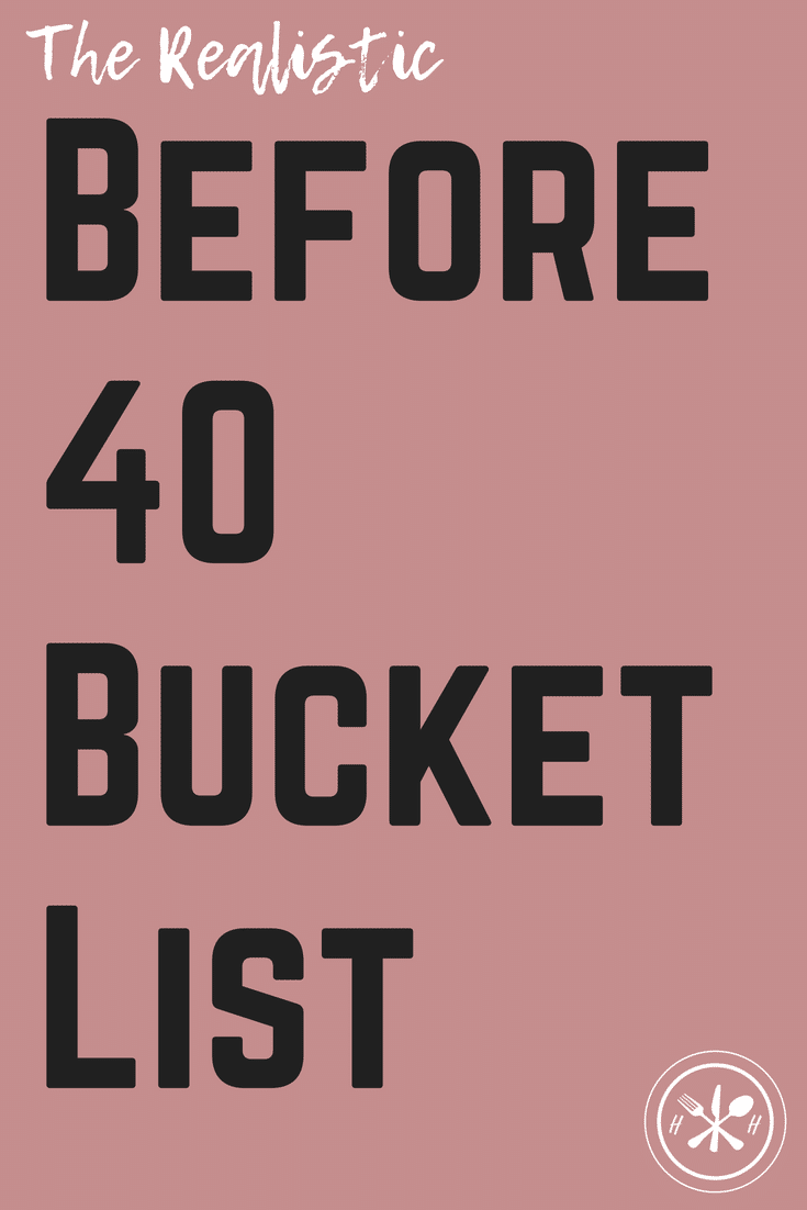 Reviewing my goals for 30 things I wanted to do before I turned 30, and my new list for 40 things I want to accomplish before I turn 40!