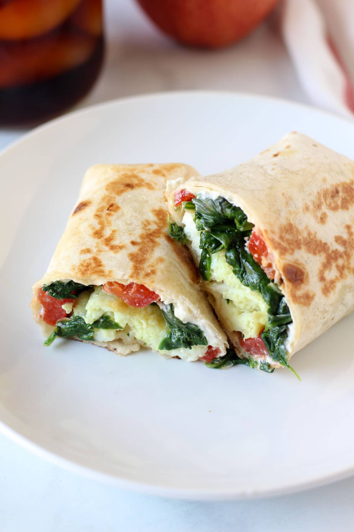 Spinach Feta Wrap from Hungry Hobby on foodiecrush.com