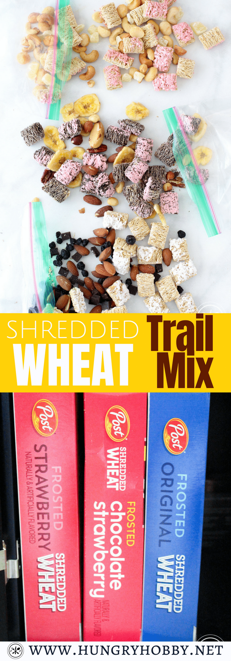 #AD Wholesome frosted wheat biscuit flavors including original, strawberry, and chocolate strawberry turn into easy and delicious portable snacking!  #SummertimeTasty #sponsored @postshredded @hboats @walmart#snacking #healthy #trailmix #easyrecipe #easysnacks #healthysnacks #healthy