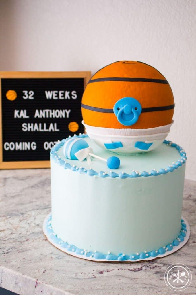 Basketball Baby Shower Cake
