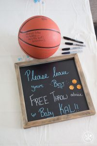 Basketball Baby Shower Game