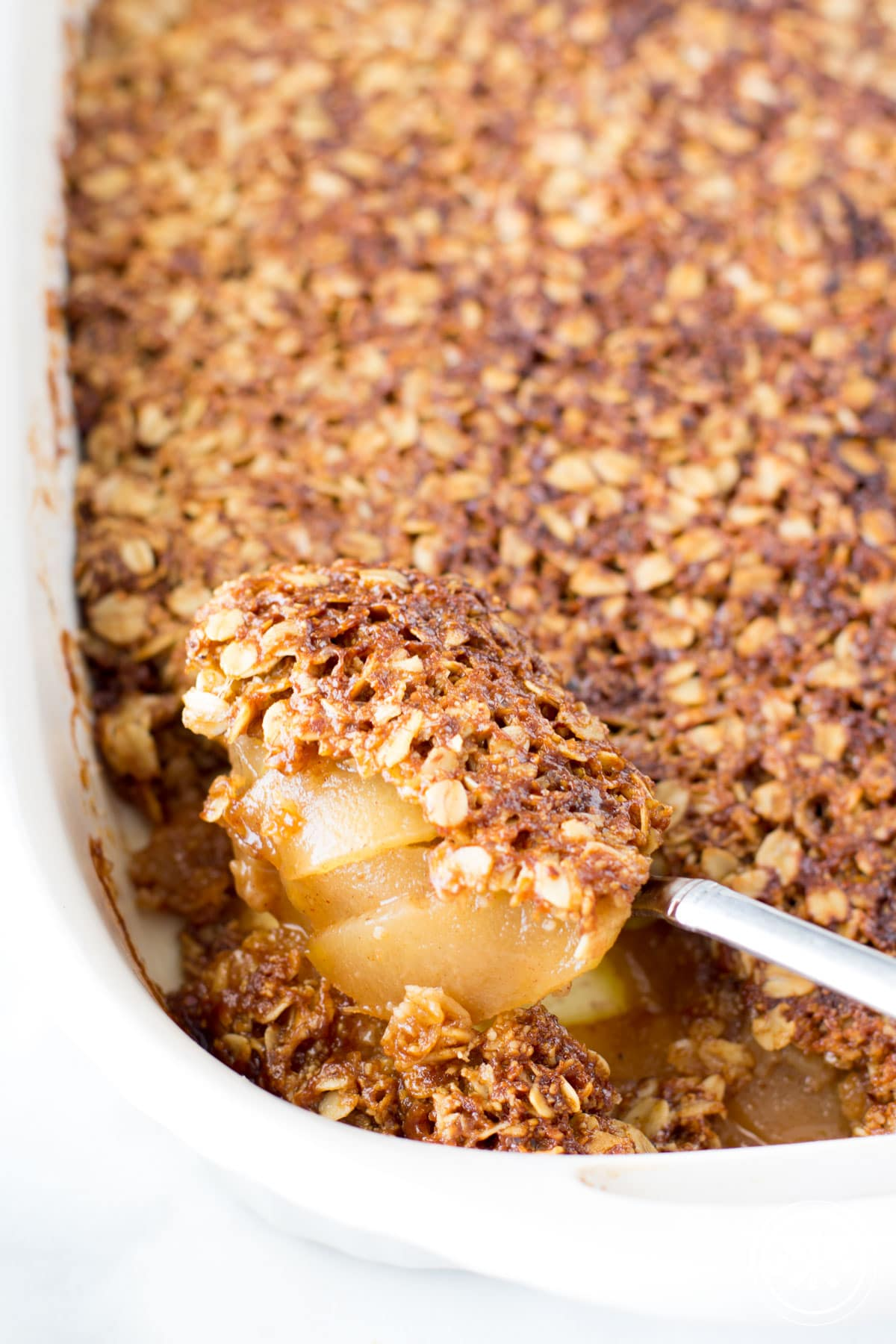 Oatmeal Crust Gluten Free Apple Crisp