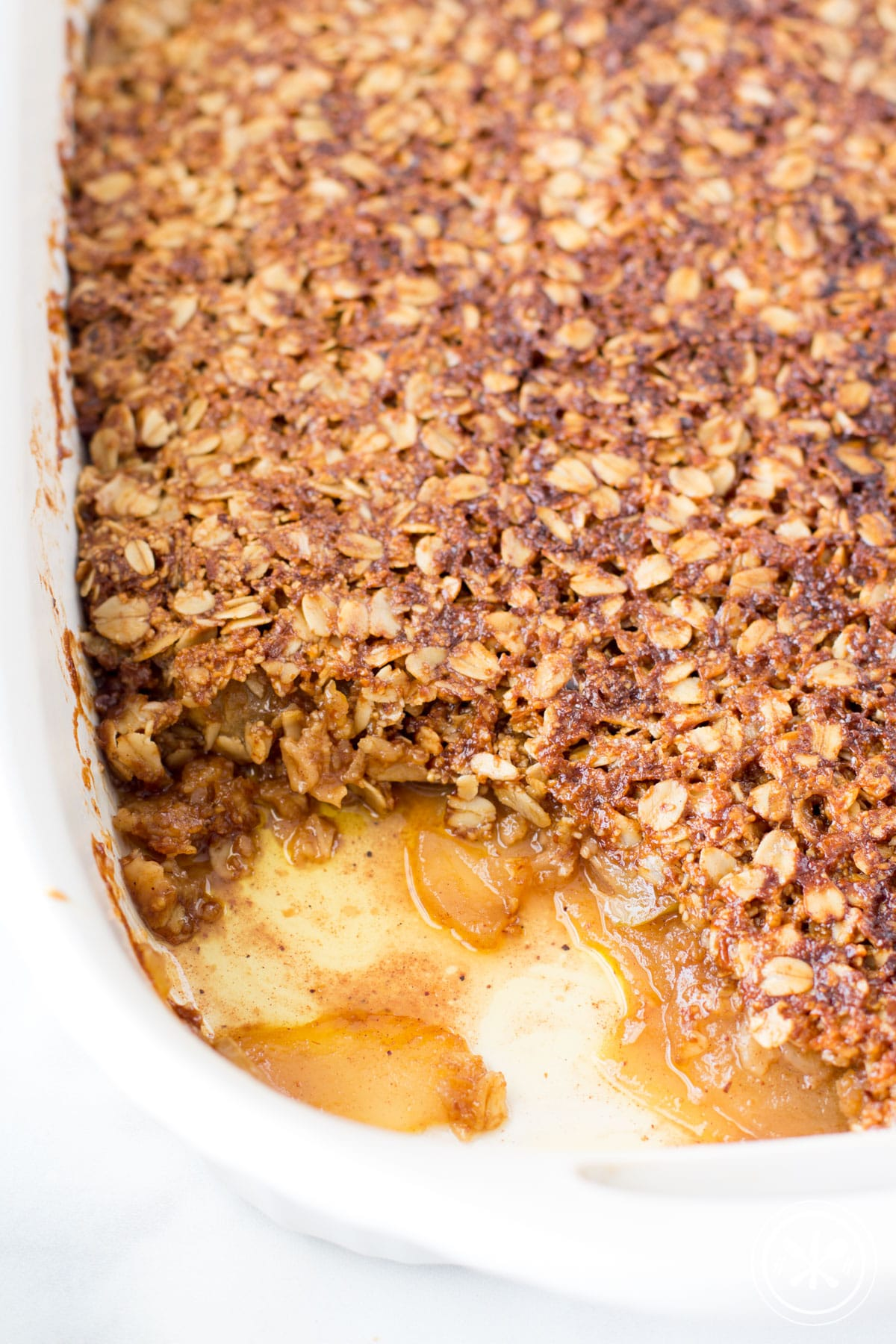 Easy Oatmeal Apple Crisp - gluten free