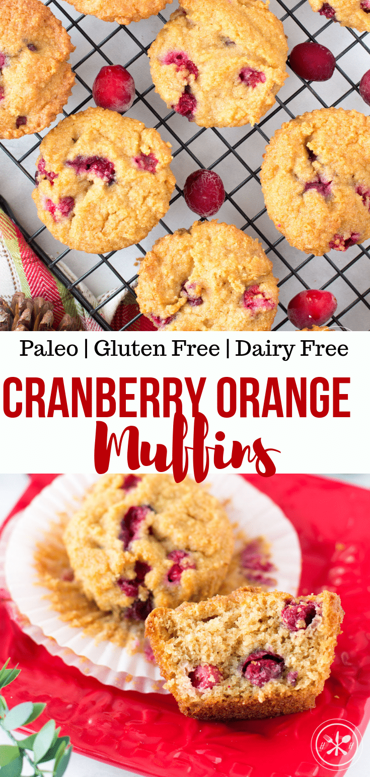 Paleo Cranberry Orange Muffins