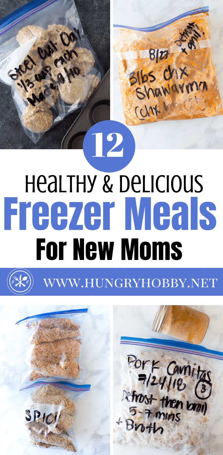 Stock your freezer so that even if you don't shower for days at least you have good food! All recipes included in one post, no clicking around needed.  #freezermeals #makeaheadmeals #recipes #healthyrecipes #healthyliving #glutenfreerecipes #pregnancy #breastfeeding #thirdtrimester