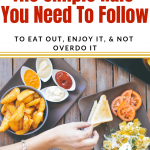 The one simple rule you need to follow to eat out, enjoy it, & not overdo it. If you are losing weight or maintaining weight this for you. How to eat out healthy. Healthy eating out tips!