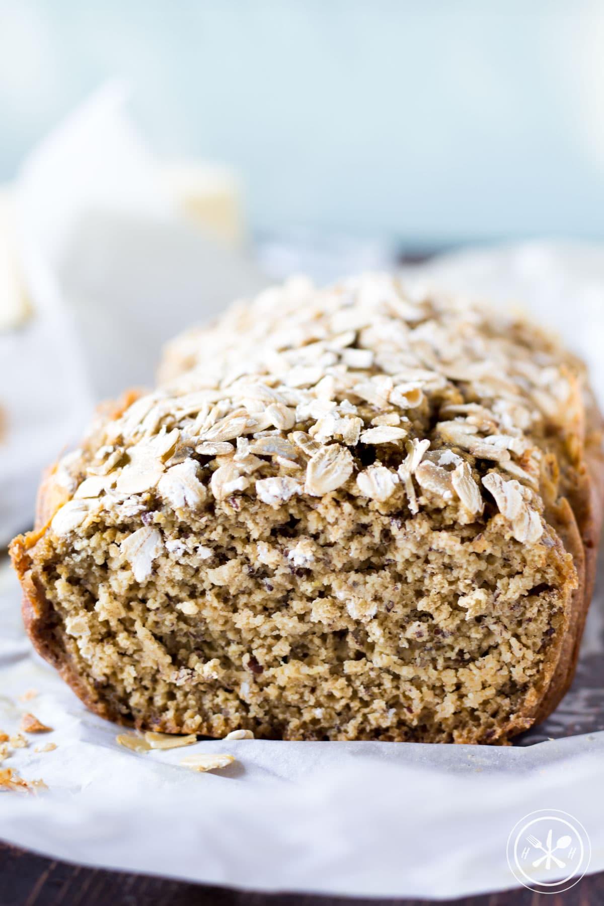 Savory Oat Flour Bread - Hungry Hobby