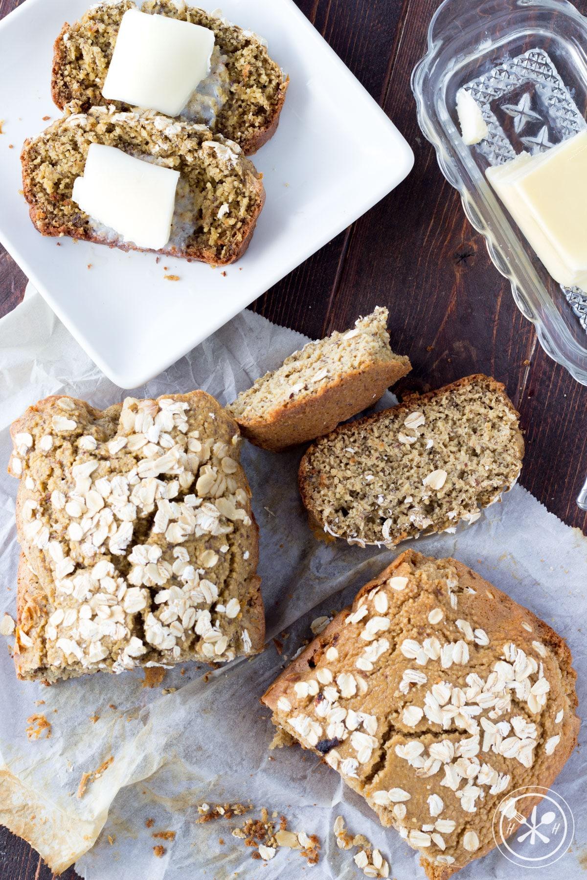savory oat flour bread gluten free