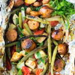 chicken and veggies foil packet dinner