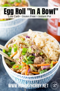 low carb egg roll in a bowl paleo