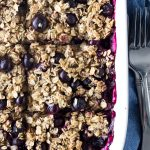 Vegan Bursting Blueberry Oatmeal  Bake