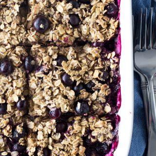 Vegan Blueberry Oatmeal Bake