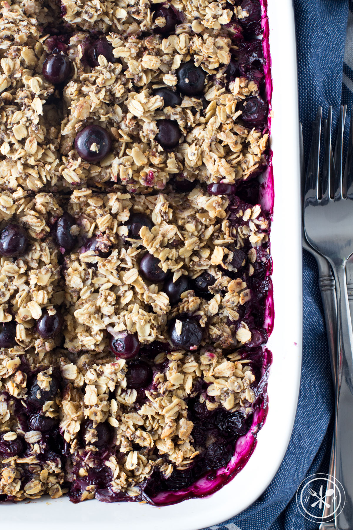 Vegan Blueberry Oatmeal Bake
