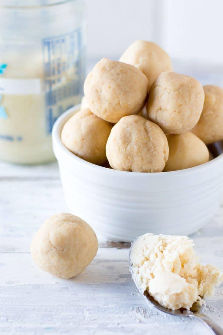 Vanilla Cake Coconut Butter Energy Balls