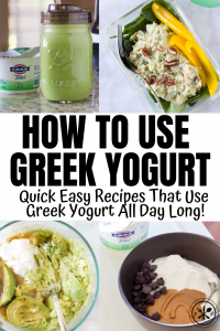 greek yogurt in recipes