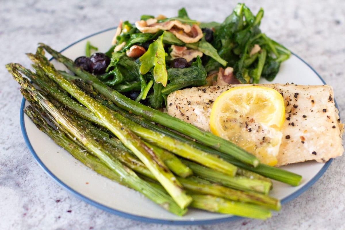 mahi mahi and asparagus