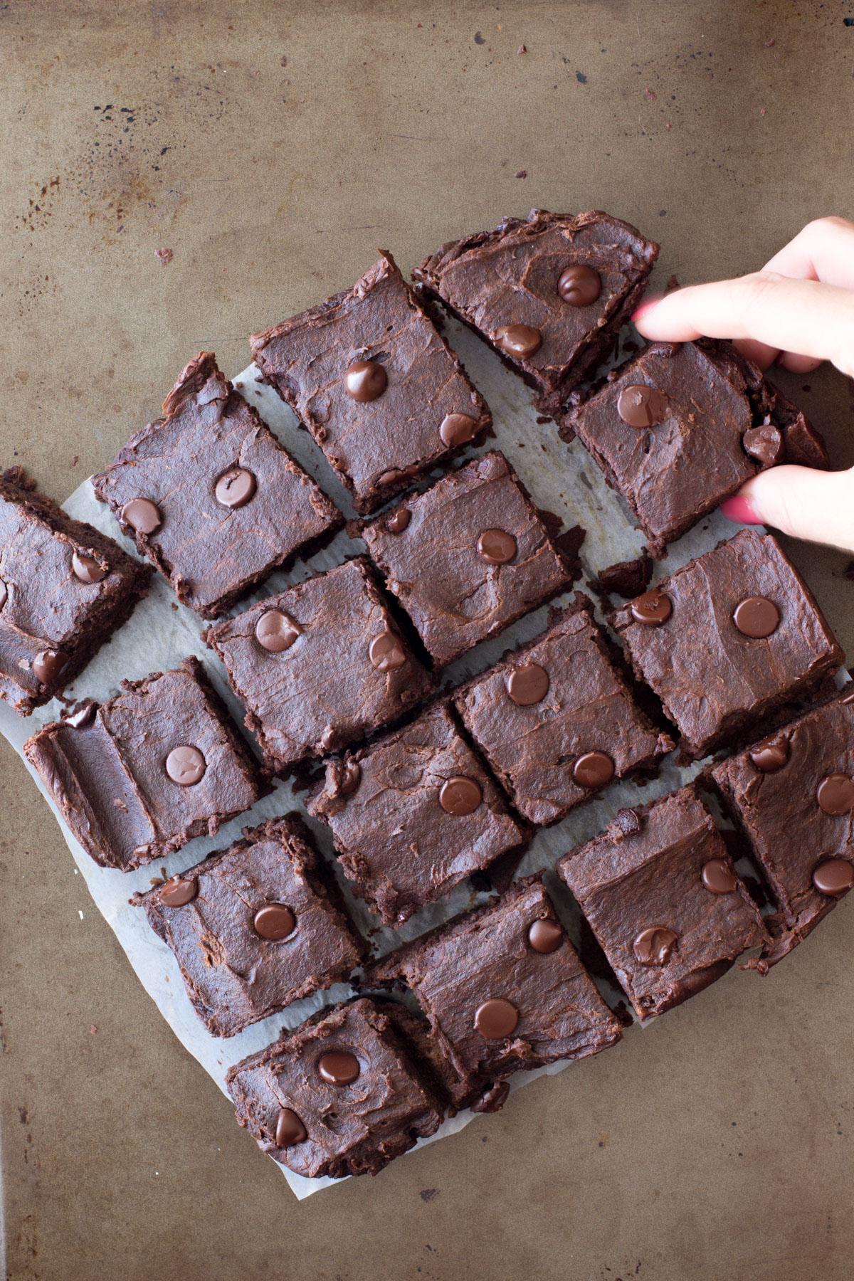 vegan protein brownies