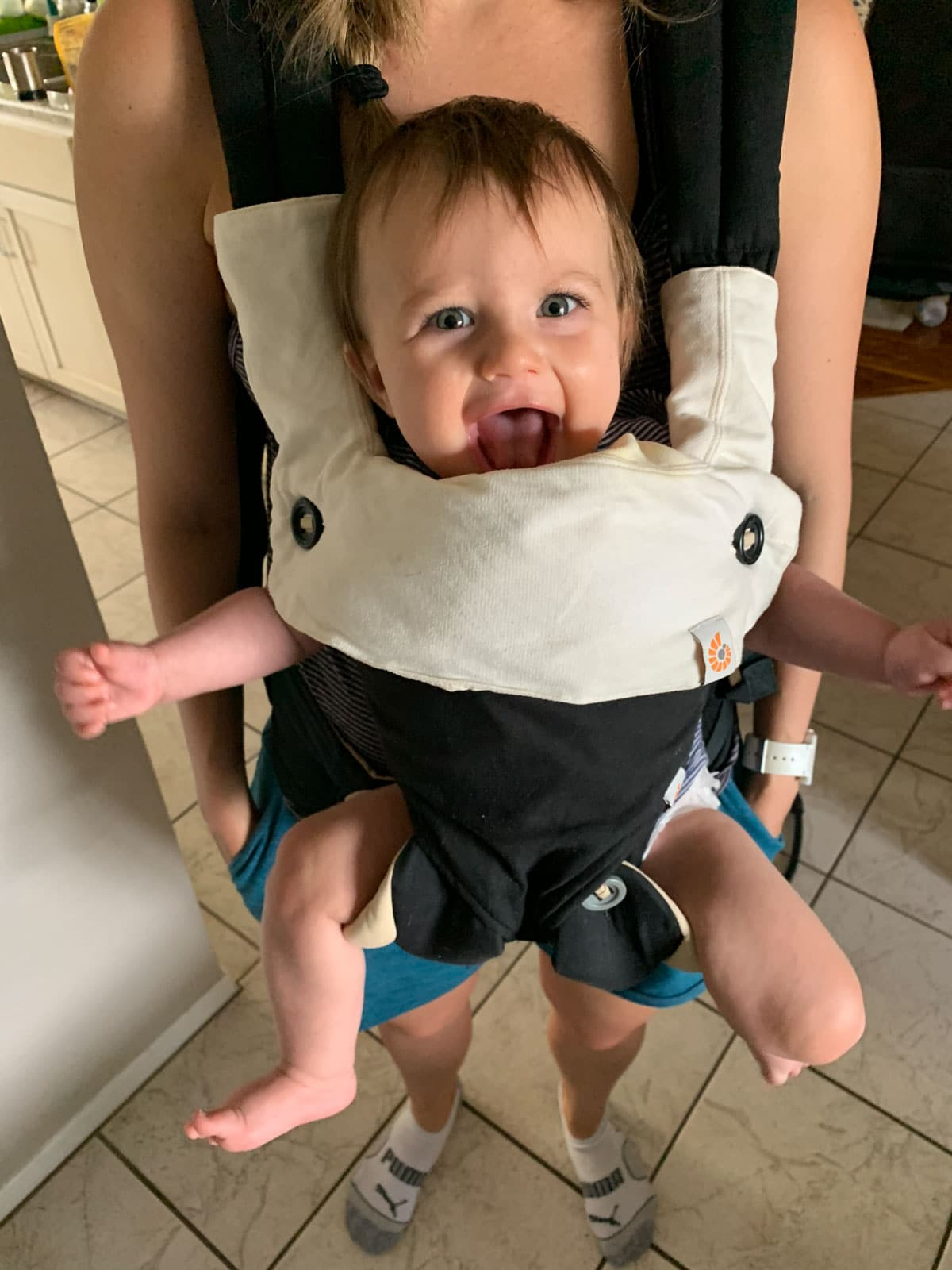8 month old in ergobaby carrier