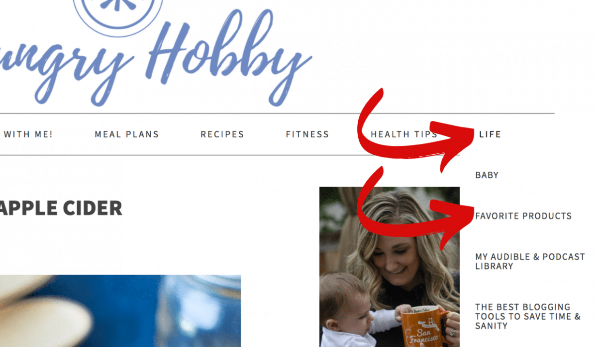 Hungry Hobby favorite products toolbar