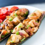 chicken bacon ranch stuffed zucchini boats