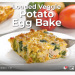 veggie loaded egg bake you tube screenshot