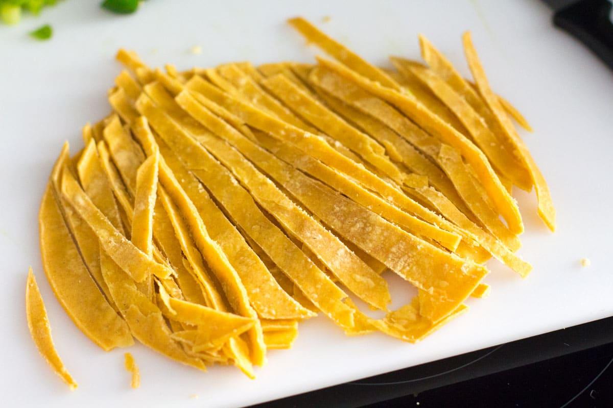 homemade tortilla strips