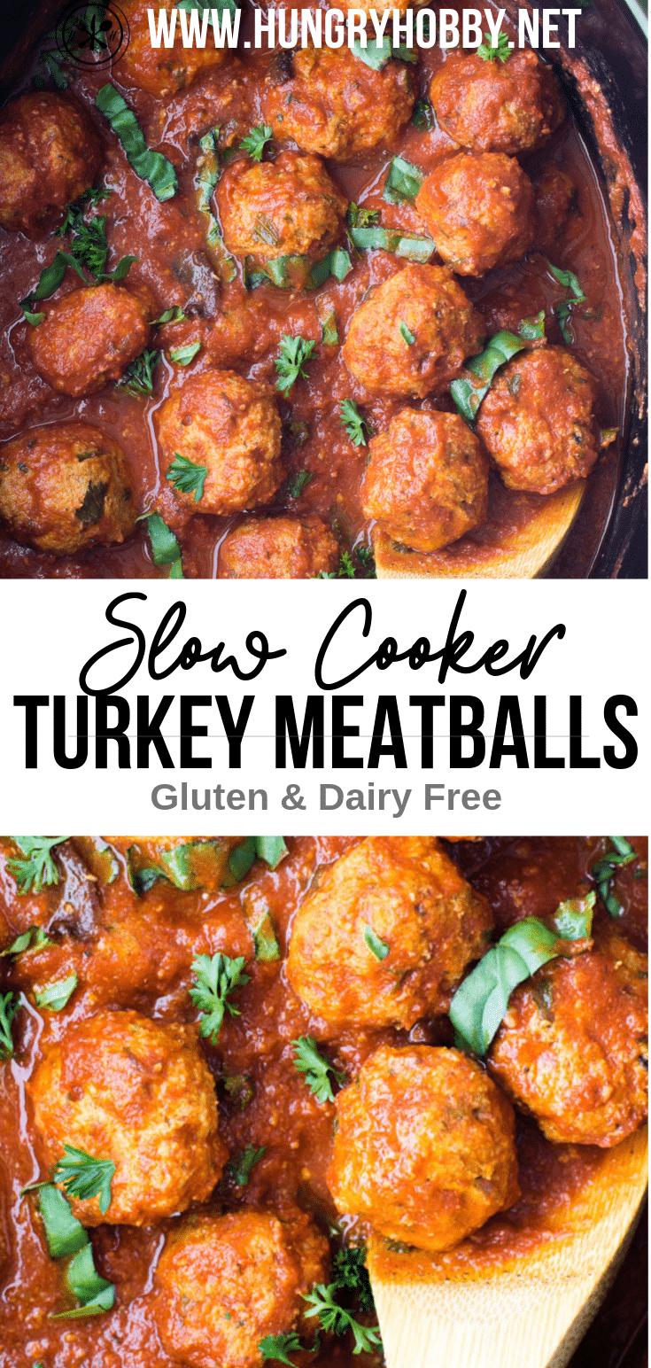 Slow Cooker Turkey Meatballs PIN