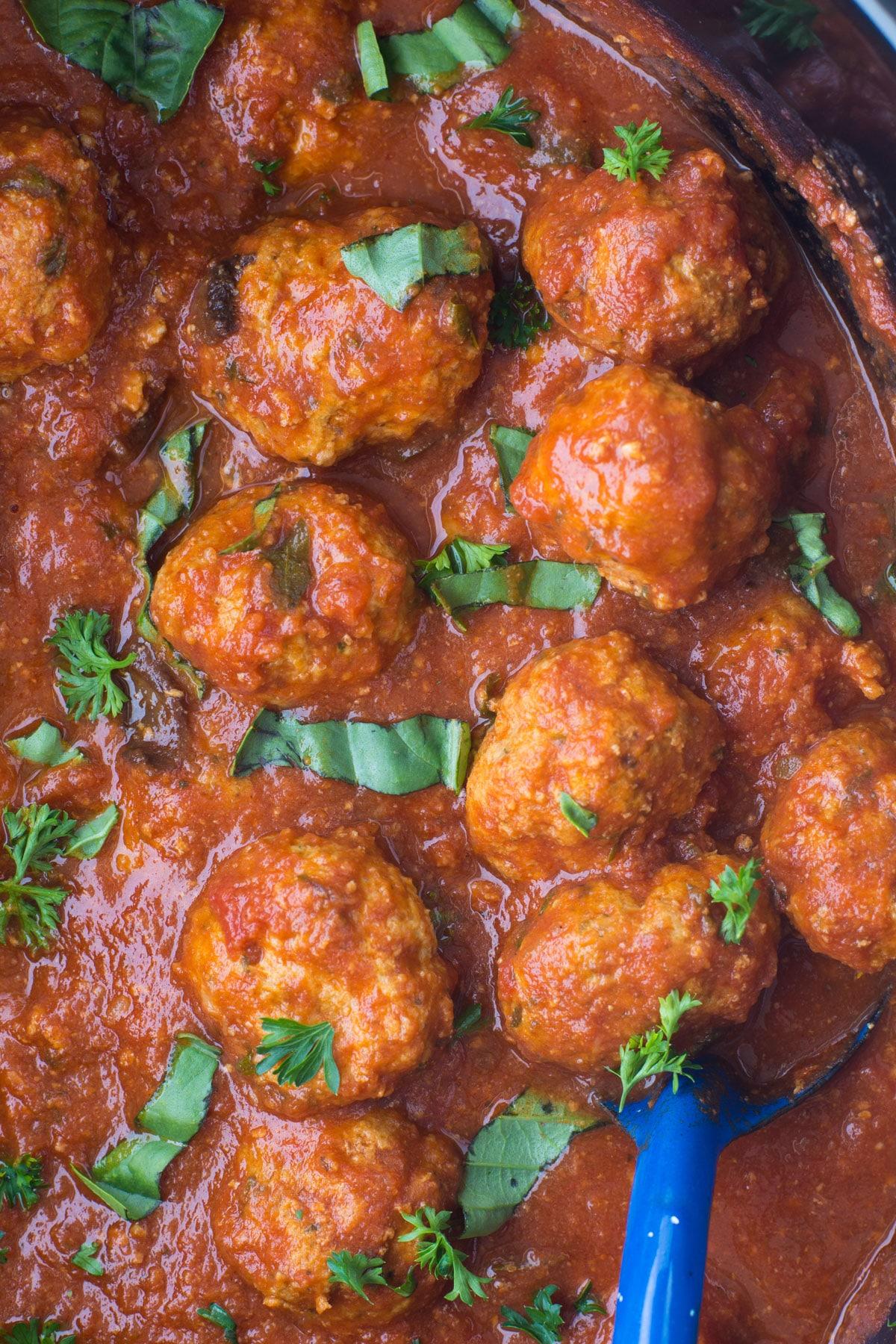 crockpot turkey meatballs image