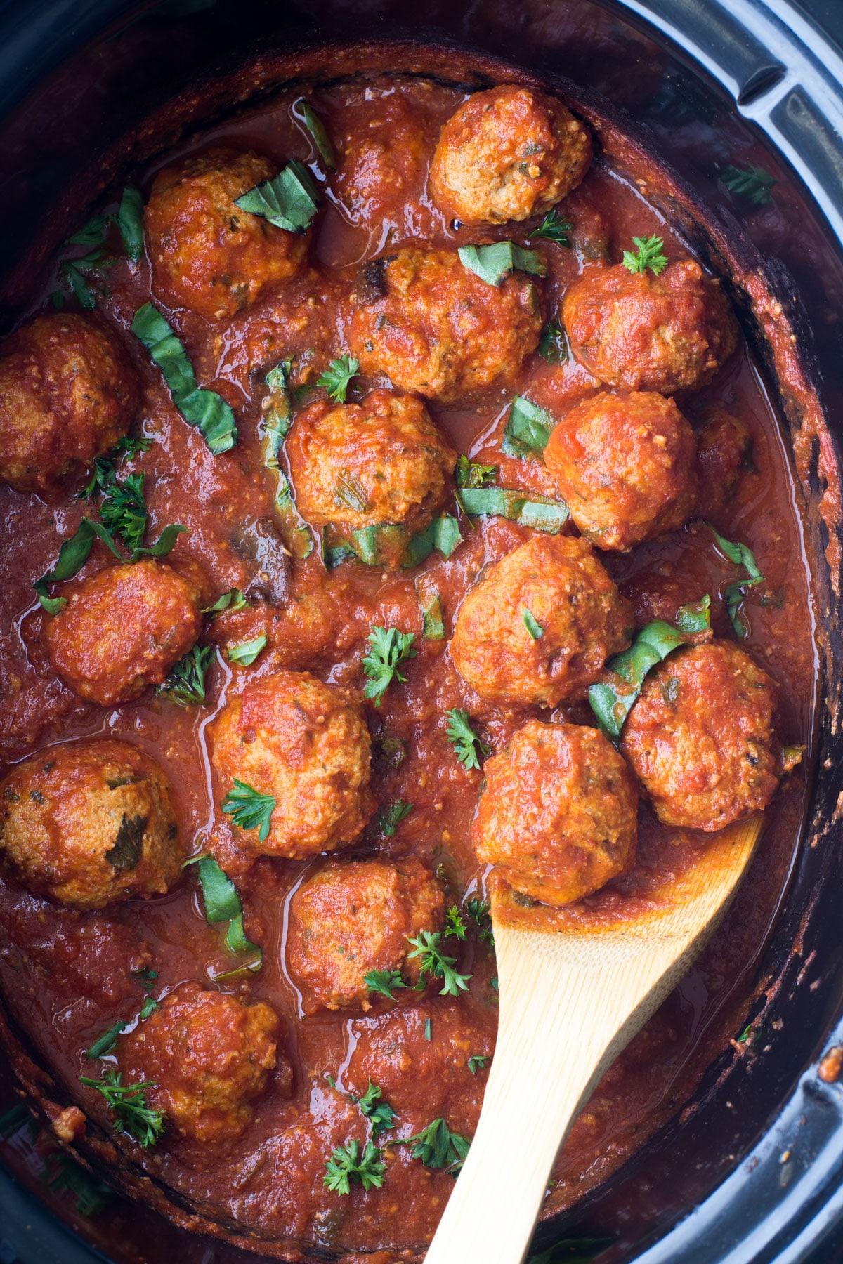 crockpot turkey meatballs photo