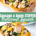 sausage and apple stuffed squash