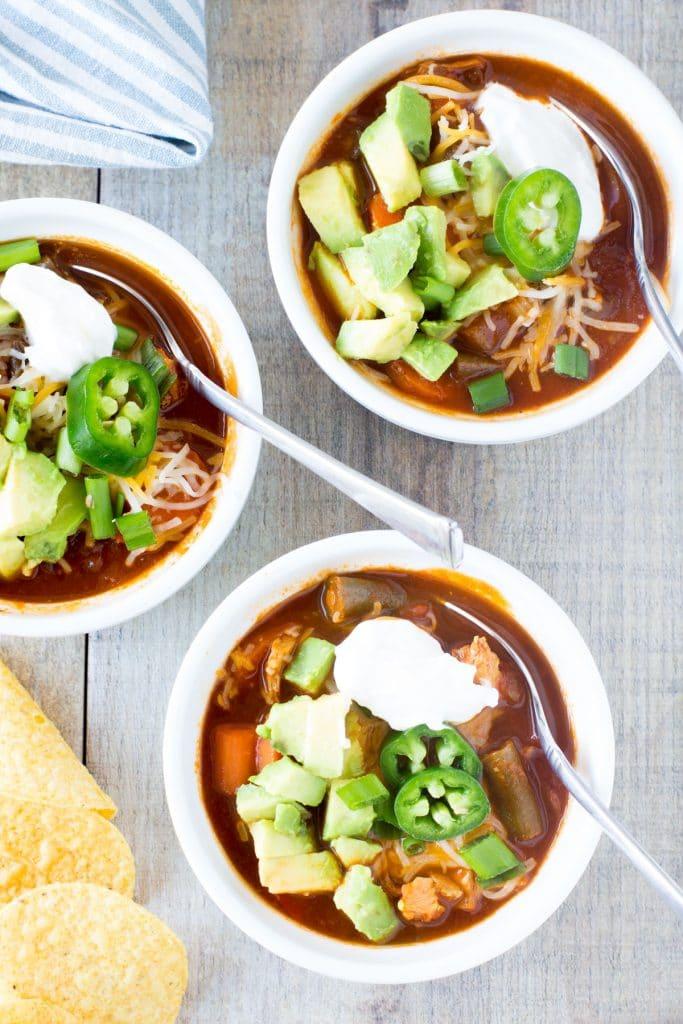 healthy leftover turkey chili