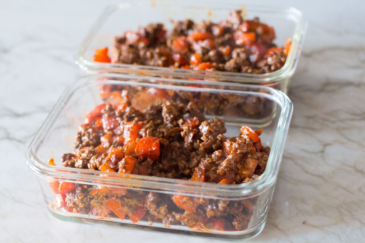 ground beef meal prep for taco salad-3
