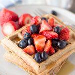 cinnamon flax oat flour waffles