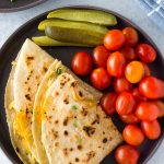 Healthy tuna melt quesadillas