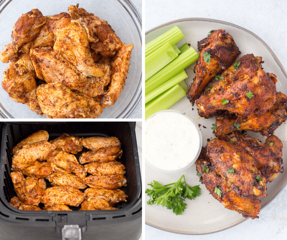Sweet Spicy Dry Rub Air Fryer Wings Hungry Hobby