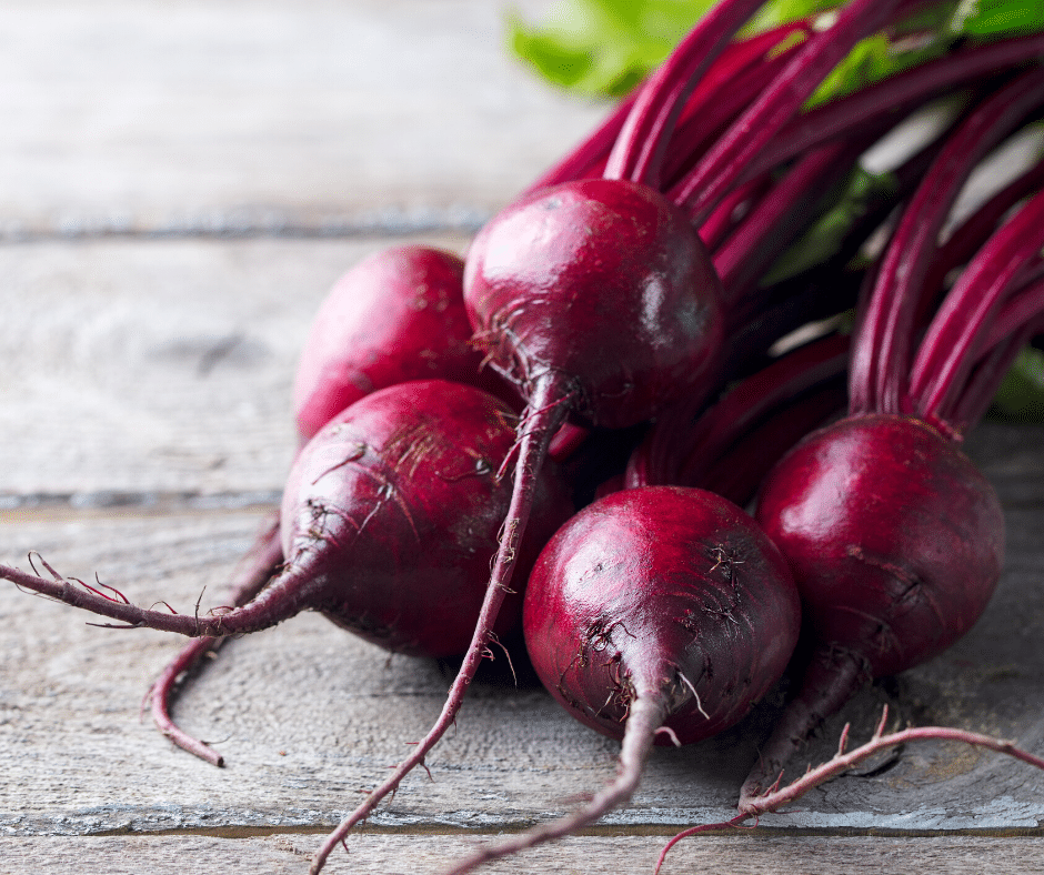 picture of beets on a wooden board